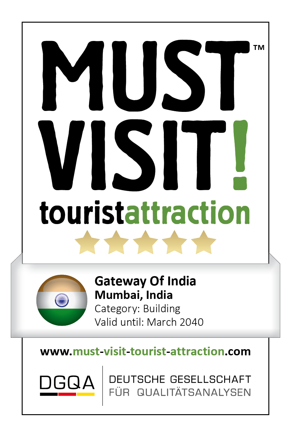 MUST VISIT! tourist attraction (dgqa) gateway of india