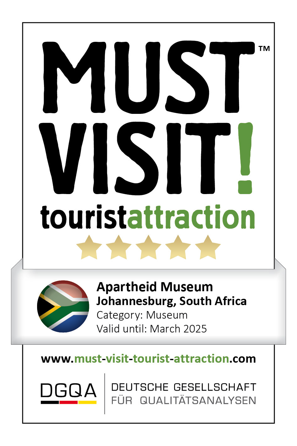 MUST VISIT! tourist attraction (dgqa) apartheid museum
