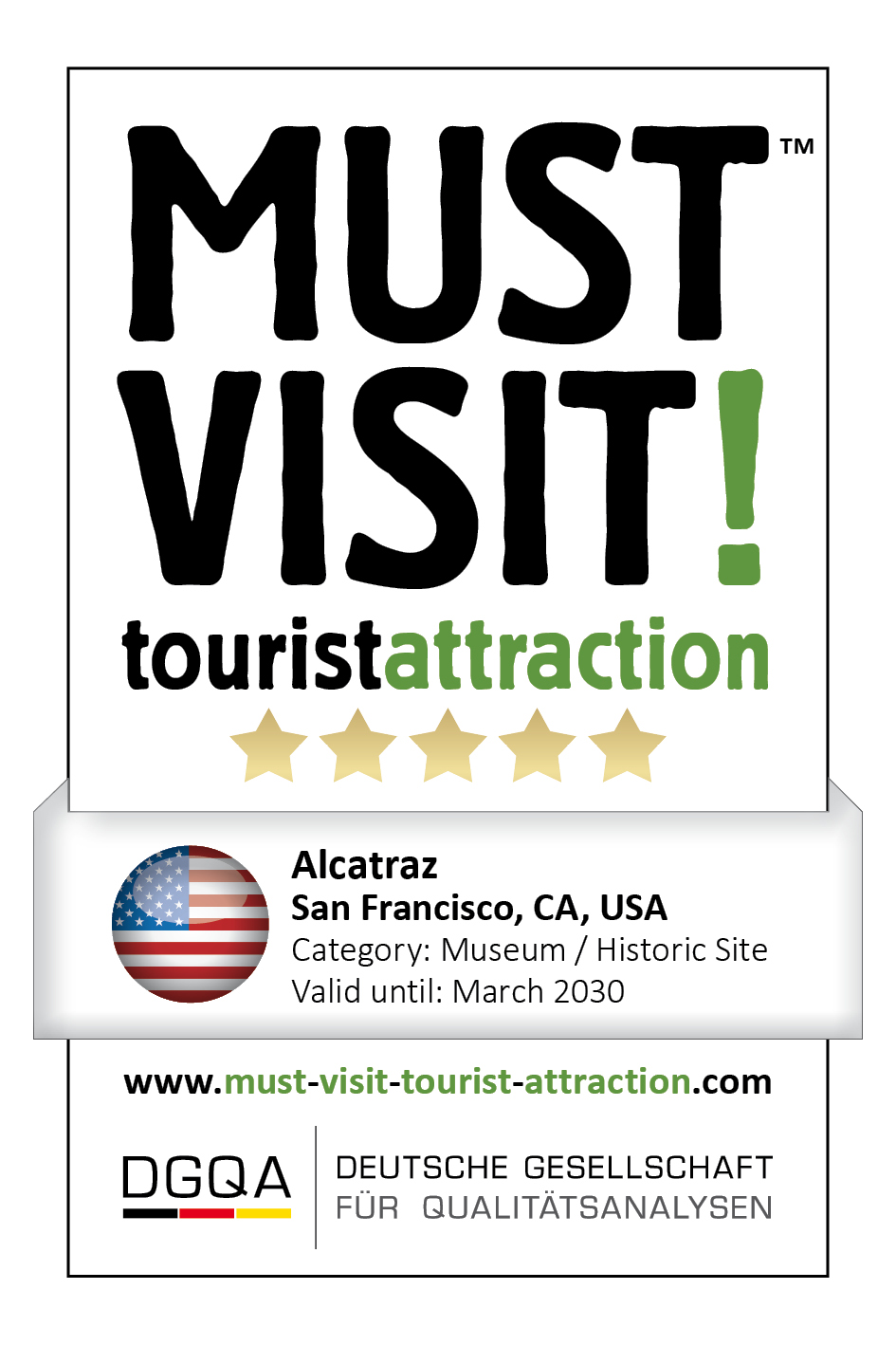 MUST VISIT! tourist attraction (dgqa) alcatraz