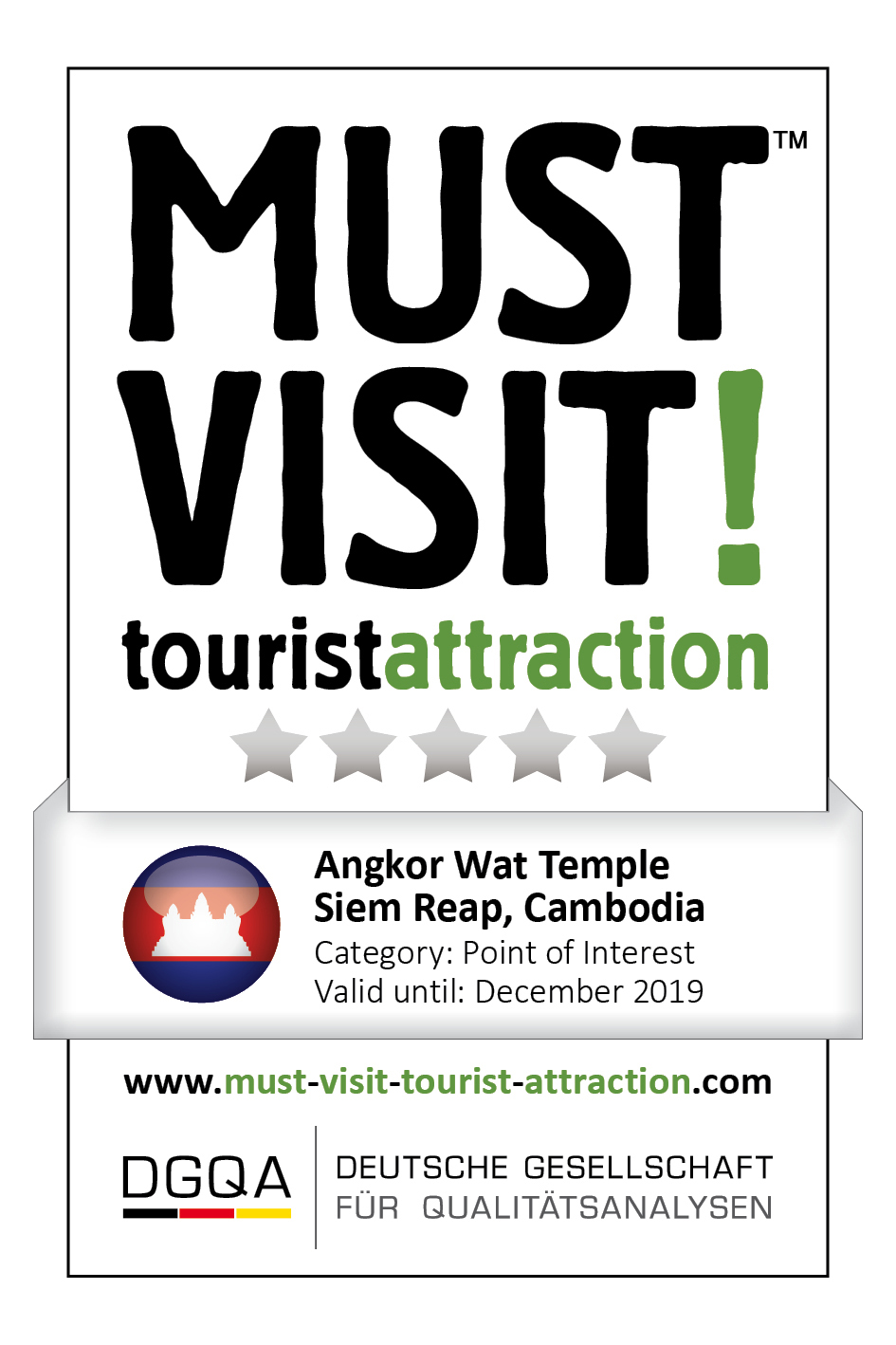 MUST VISIT! tourist attraction (dgqa) angkor wat